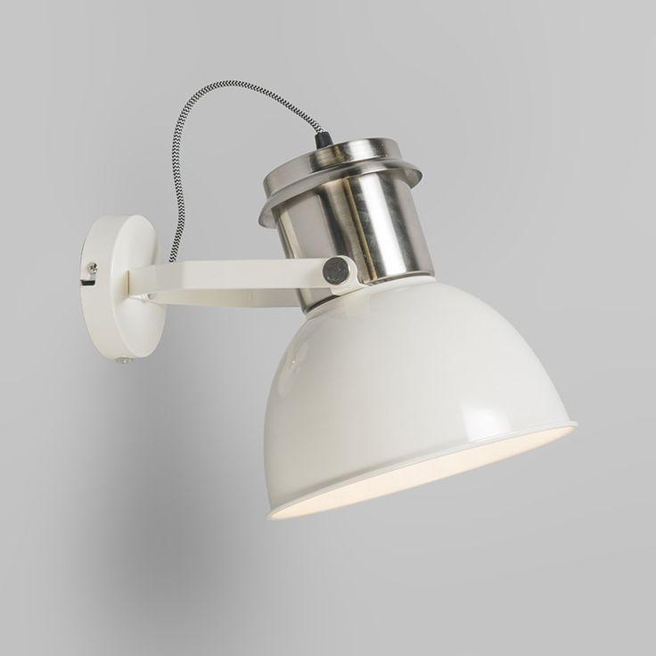 Aplique INDUSTRIAL blanco - Apliques de pared - Iluminación interior - lamparayluz.es 35 €