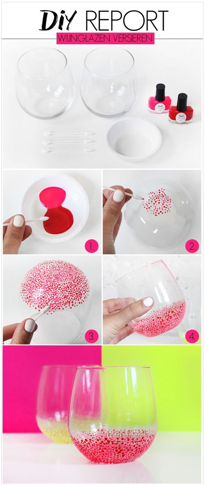 DIY: Wine Glasses #diy #followfashion