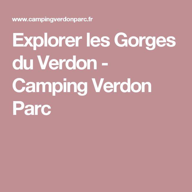 Explorer les Gorges du Verdon - Camping Verdon Parc