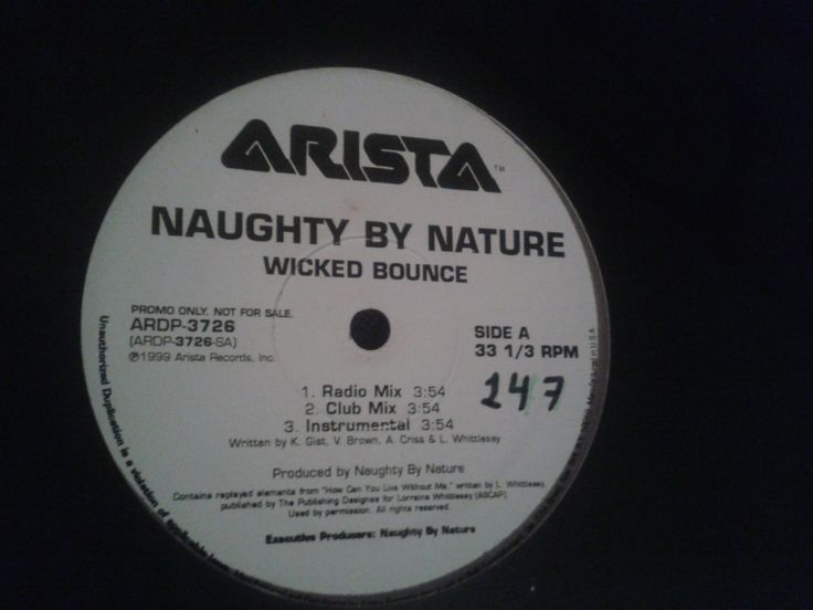 #NaughtyByNature – Wicked Bounce / The Blues
