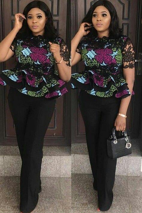 30e56b79b5da98 Ankara tops. Ankara tops African Wear, African Dresses For Women ...