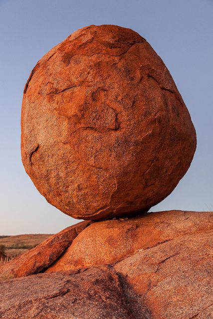 Dawn at The Devils Marbles, 100 kilometres south of Tennant Creek, Northern…