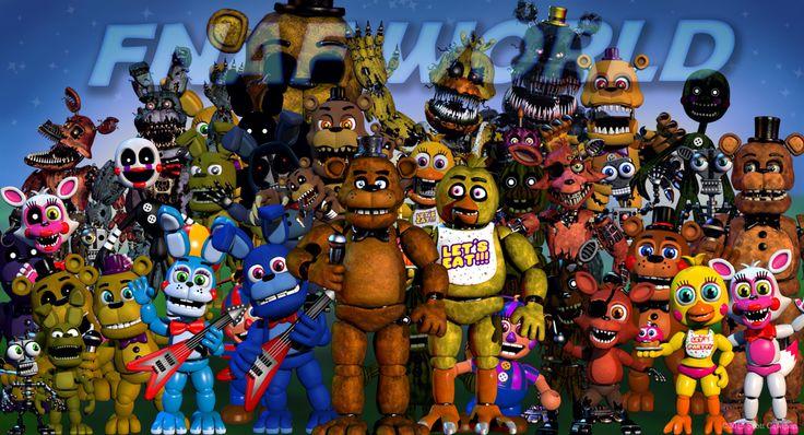 Resultado de imagen para todos los personajes fnaf
