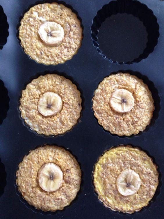 Petite variante du régal du matin, grand classique dans les petits déjeuners rassasiants de ww.. J'avais envie de tester la cuisson au four.. 5 petits régals du matin / 1ppt l'un 6ppts la totalité de la recette Ingrédients 1 banane bien mûre 1 œuf 30g...