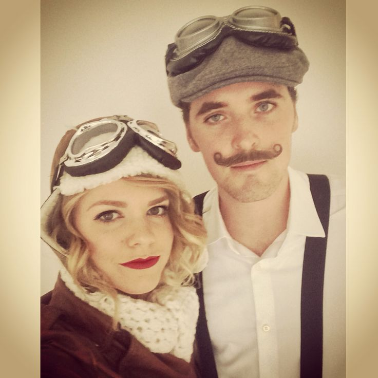 Amelia Earhart and Orville Wright halloween couples costumes