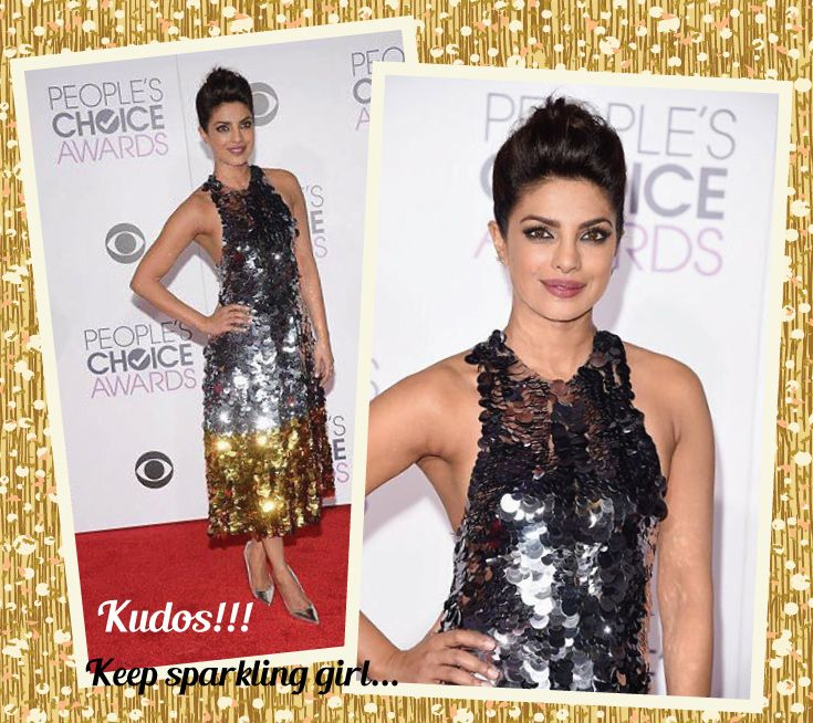 Proud of you Piggy Chops!!! ‪#‎PriyankaChopra‬ ‪#‎Kapsons‬ ‪#‎PeopleChoiceAwards‬ ‪#‎BaywatchMovie‬