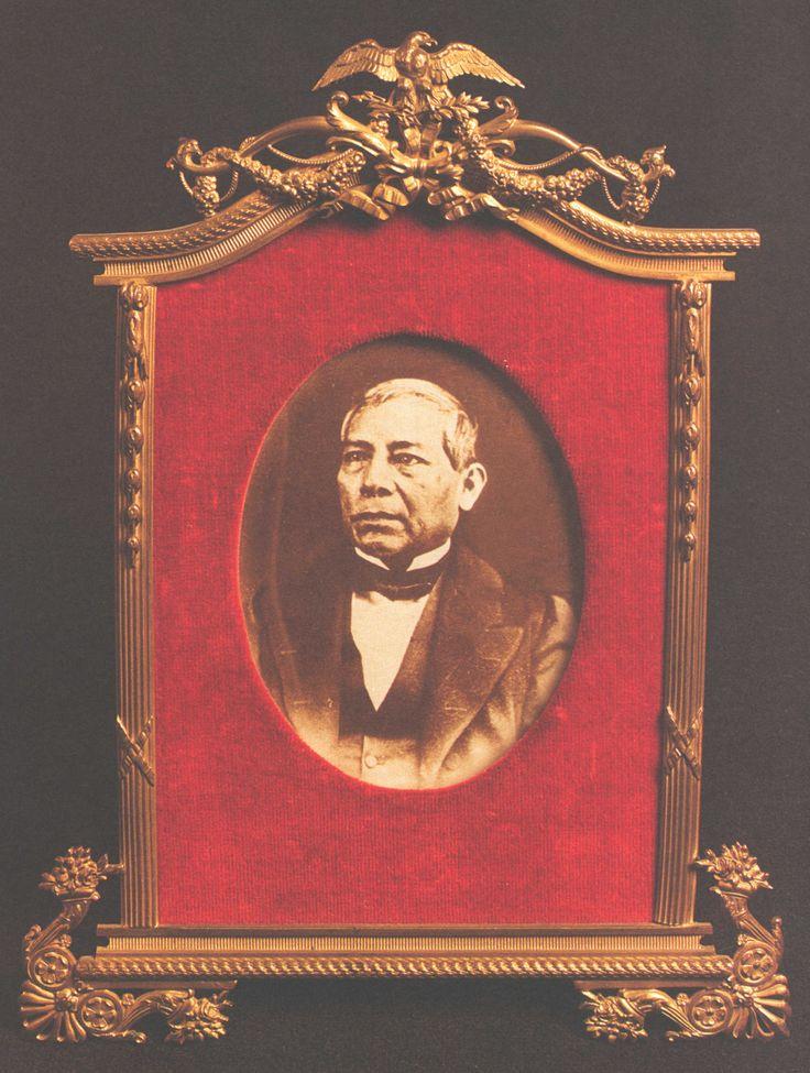 Una de las últimas fotografías de Don Benito Juárez en el Recito de Homenaje a Benito Juárez en Palacio Nacional, Centro Histórico de la Ciudad de México