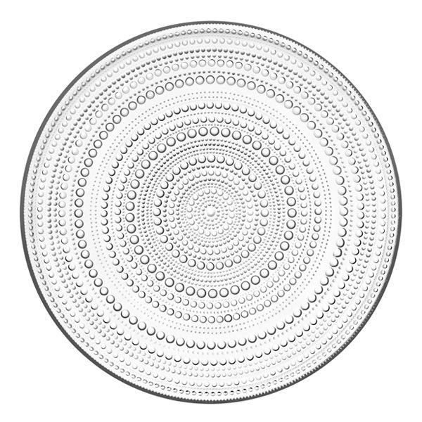 Kastehelmi plate 315 mm, clear