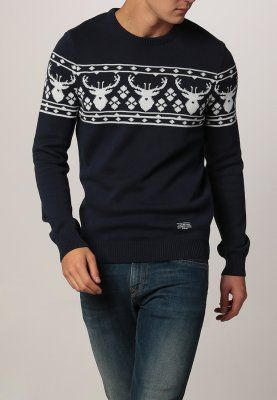 YOUR TURN - Strikpullover /Striktrøjer - dark blue 299,-