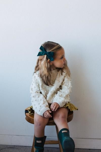 Oversized Schoolgirl // Mallard - Wunderkin Co. Handmade hair bows for your baby, toddler, or little girl and her free-spirited style. Each of our bows are handmade by women in the USA and guaranteed for life. Shop our bows to complete your little one's one-of-a-kind everyday fashion. Click for style details.