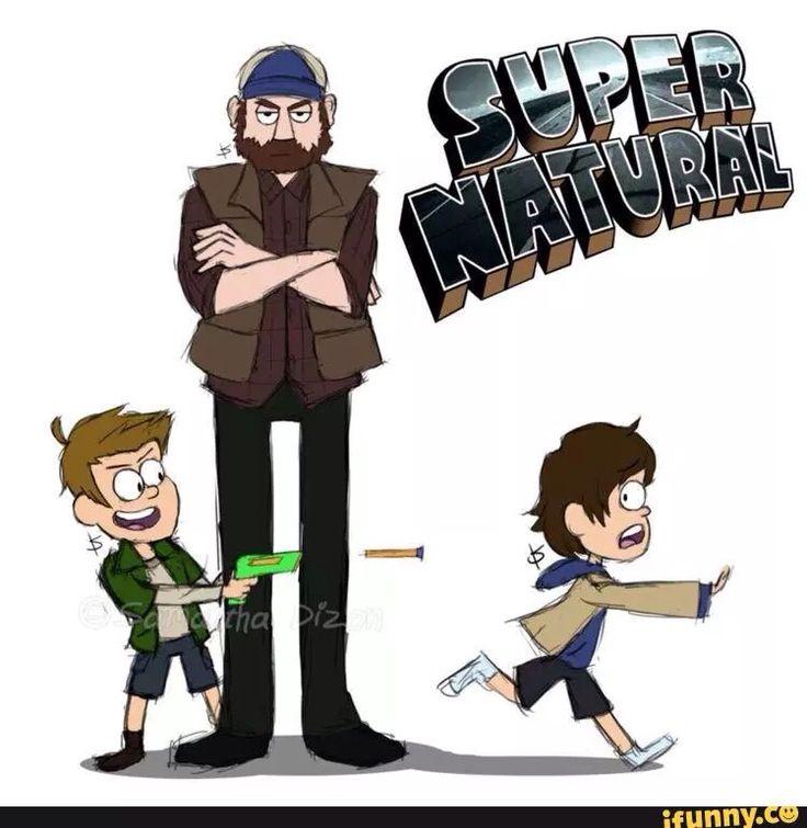 Haha Gravity Falls meets Supernatural