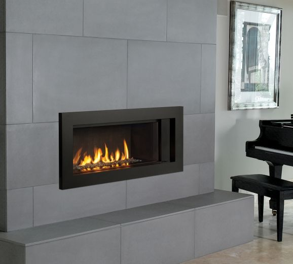 Contemporary Tiled Fireplaces
