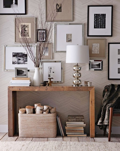 Home Fashion Alert! Love the sophisticated neutral mix of silver, white, black, grey and khaki #frames and mats.: Home Fashion Alert! Love the sophisticated neutral mix of silver, white, black, grey and khaki #frames and mats.