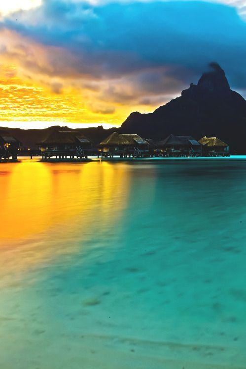 "wavemotions: "" Bora Bora, French Polynesia by Ugur Ozden """