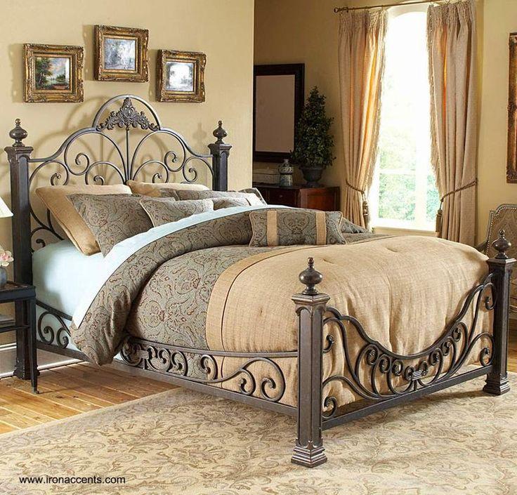 71 best camas bonitas images on Pinterest   Wrought iron beds, Metal ...