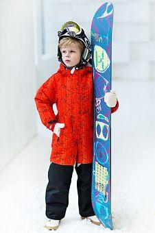 Комбинезон для мальчика оранжевый с принтом AtPlay