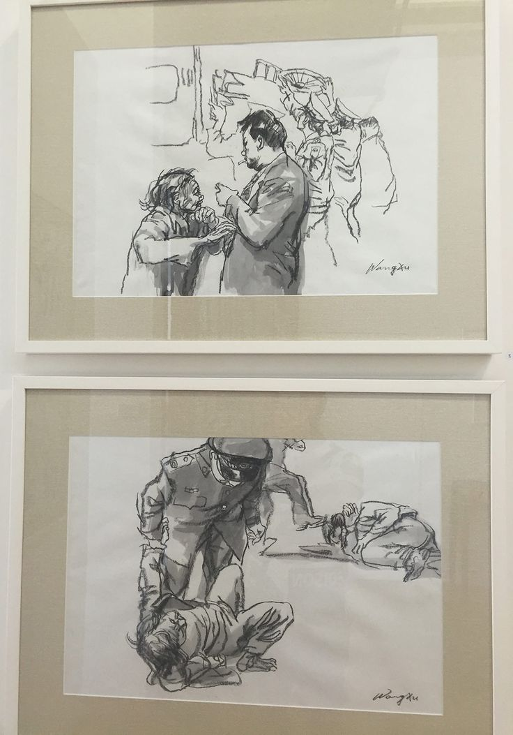 Maintenance of Stability #2 and #3 by Wang Xu.  Beautiful, and quite violent scenes of China. Quite moving in their vague, expressionistic simplicity.