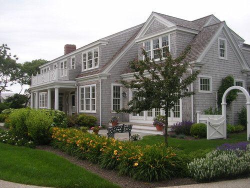 17 best images about exteriors on pinterest exterior for Cape cod landscape design