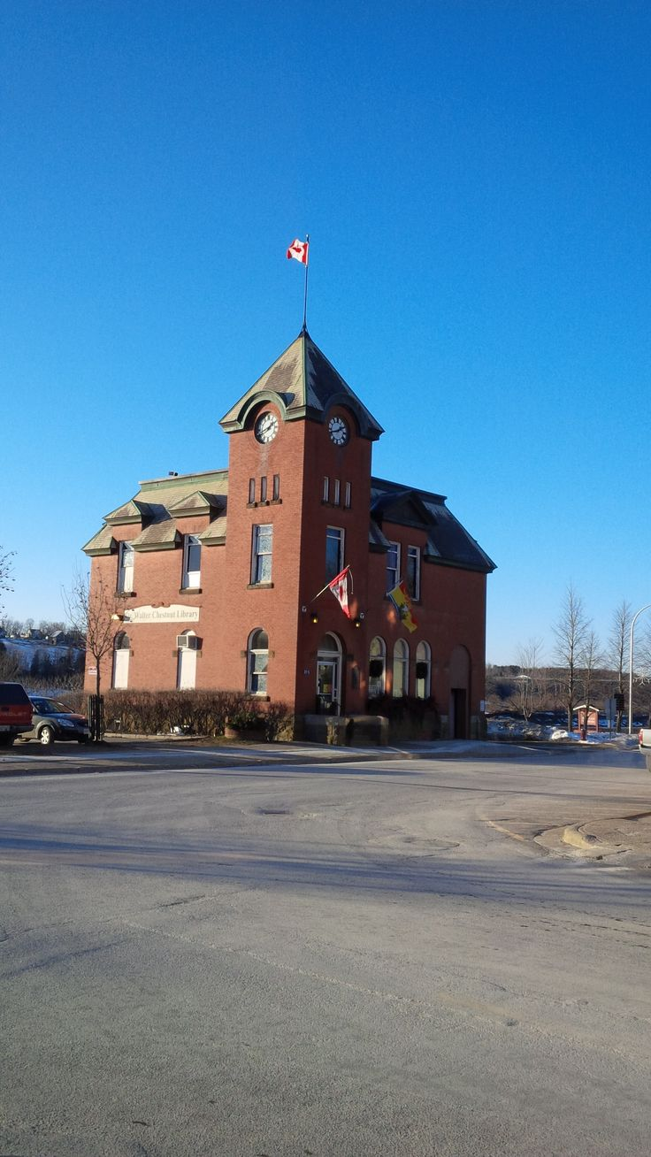 Historical building.Once the town post office now the Dr. Walter Chestnut Library, Hartland NB
