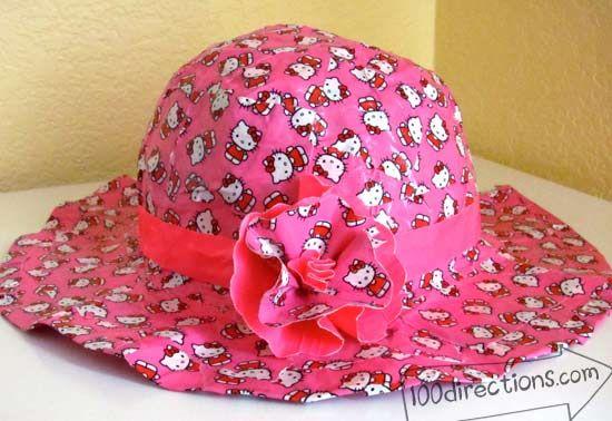 Duct tape sun hat