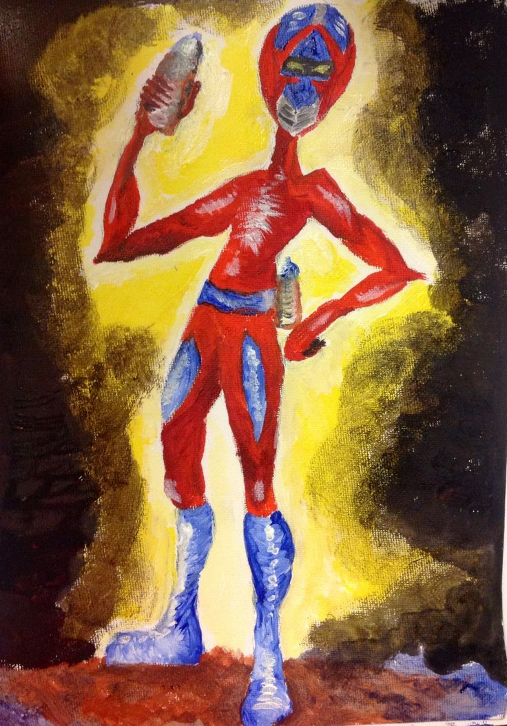 Every night he's fighting against grey walls! The Superhero of Street Art! #acrylics #Thipi