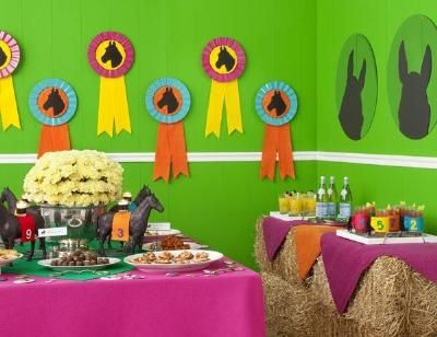horse party food ideas | Look at the decorations! Horse-Racing Party-crafts AND recipes | Party Ideas