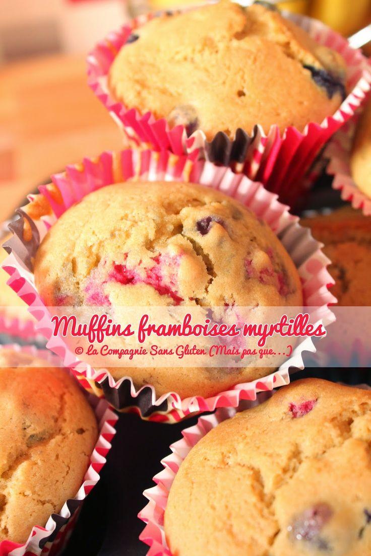 La-Compagnie-Sans-Gluten, un blog-sans-gluten-et-sans-lait !: Muffins framboises et myrtilles, sans gluten, sans lait, sans fruits à coques....