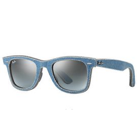 Ray Ban RB2140 Original Wayfarer Denim sunglasses – Light Blue Denim; Light Blue Frame / Blue Gradient Lens
