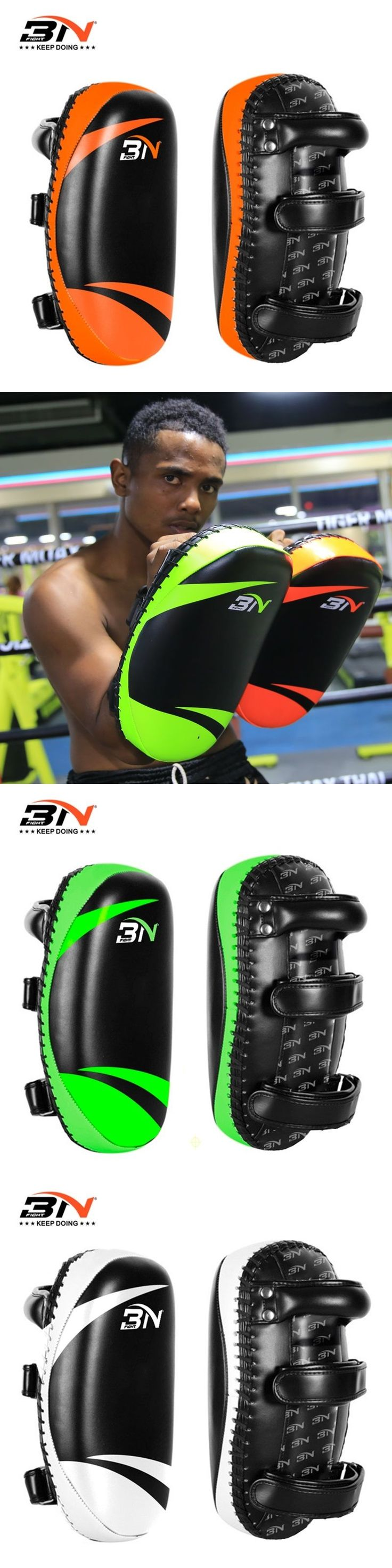 1 piece BN boxing Pads Professional PU LEATHER mma kick pads focus pads Taekwondo sanda thai  Training fitness equipment