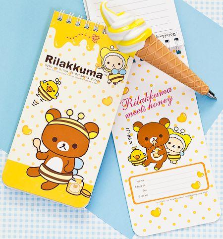 Rilakkuma spiral notepad from Pikku Shop | www.pikku-shop.com