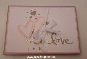 Stampin up Hochzeit, Invitation, Einladung, Watercolor Words, wedding