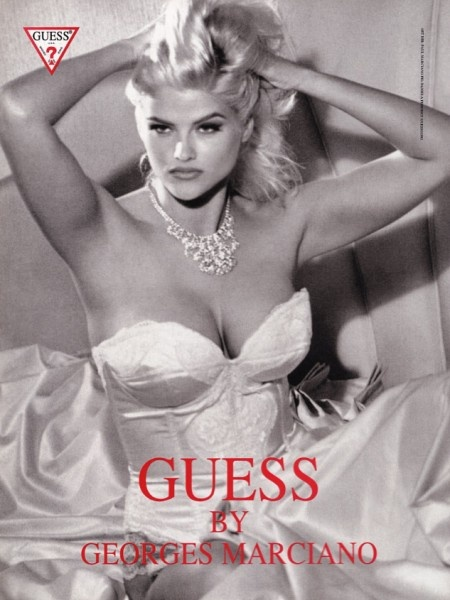 Her deceased mother Anna-Nicole Smith was the face of Guess for several years. Smith's multiple breakdowns, her strange death and the symbolism in her work (she is here portrayed as Marilyn Monroe) have all of the marking of a MK slave. I hope her daughter does not follow in her footsteps.