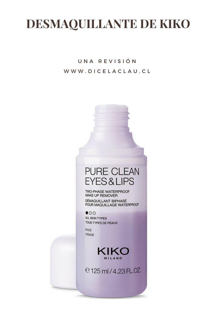 Si quieres saber cómo es el desmaquillante bifásico de Kiko llegaste al lugar correcto.Acá te cuento sobre Pure Clean Eyes & Lips.