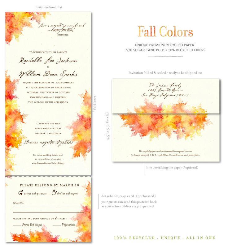 Fall Colors (premium). Fall Wedding InvitationsWedding ...