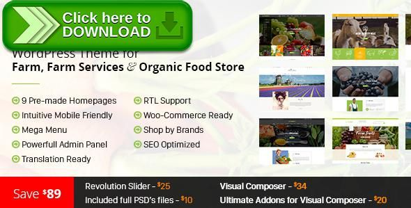 [ThemeForest]Free nulled download FoodFarm – WordPress Theme for Farm, Farm Services and Organic Food Store from http://zippyfile.download/f.php?id=12700 Tags: bakery cafe, farm, farm services, farmer, food, food company, fruits, meat, organic, restaurant, retail, seed, store, vegetables