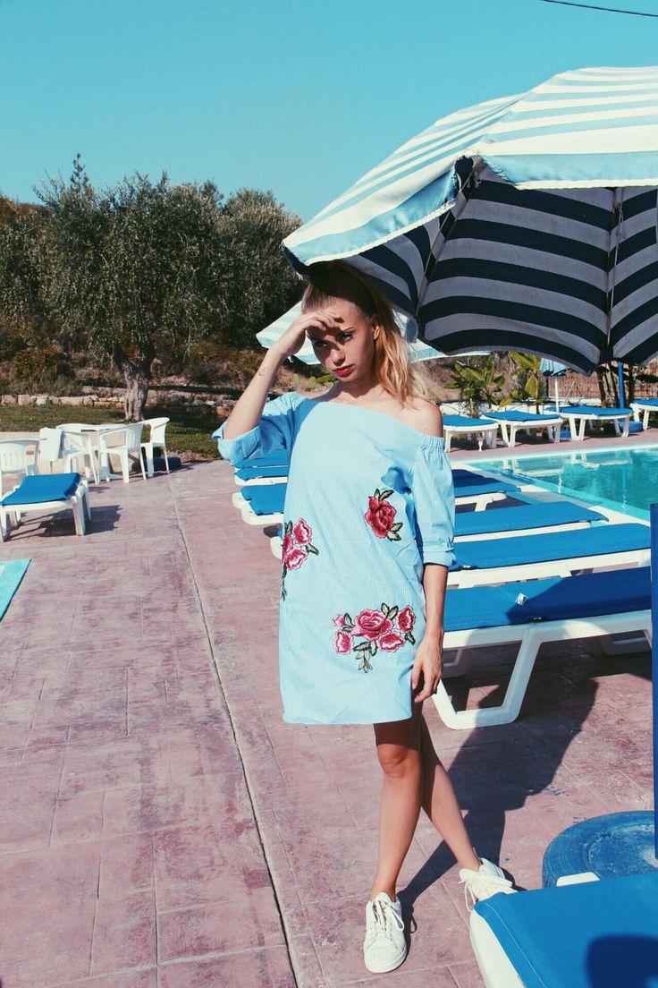 Greece | Fashion Blog Kimmie More street style ideas, summer, girl, blonde