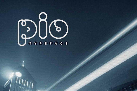 PIO Rounded TrueType Font by alphadesign on @creativemarket