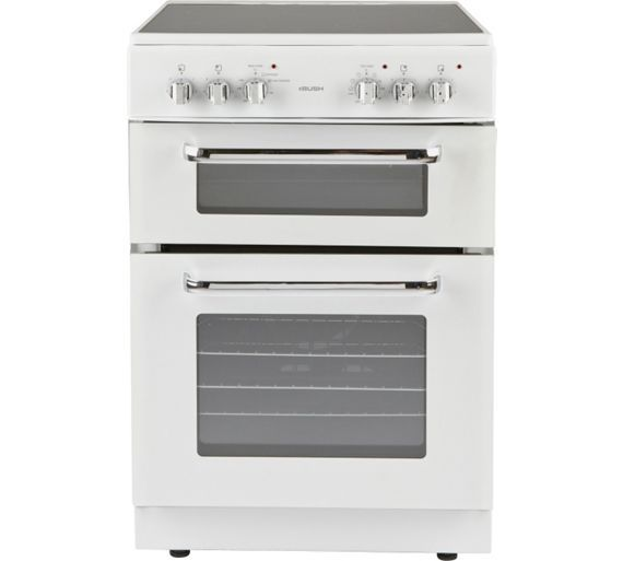 Buy Bush BFEDC60W Double Electric Cooker - White at Argos.co.uk, visit Argos.co.uk to shop online for Freestanding cookers, Cooking, Large kitchen appliances, Home and garden