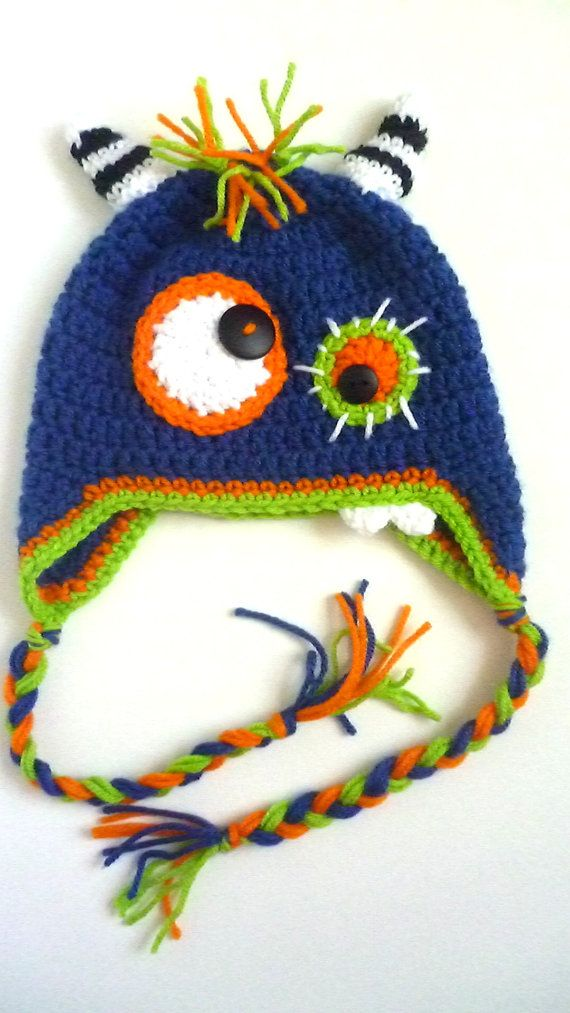 Monster Hat by WhoWhoBoutique on Etsy, $22.00