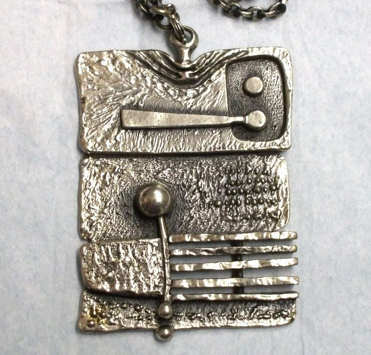 Vintage Guy Vidal Abstract Modernist Brutalist Pendant ...