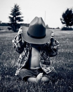 He's gonna be my little cowboy!<3(;