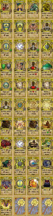 All myth spells!
