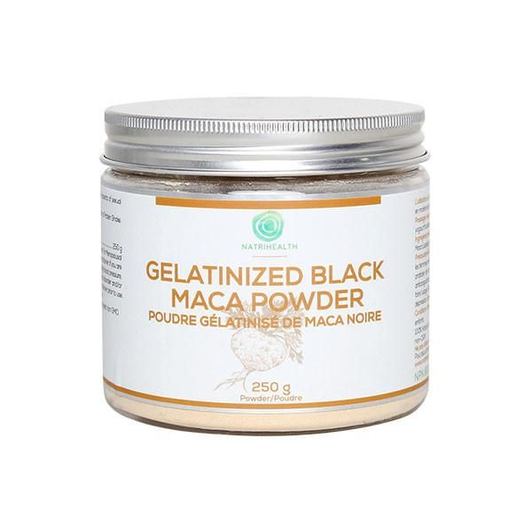 """Black Maca, being known as """"Peruvian Ginseng"""", has a long history as a food and a supplement. Cultivated for thousands of years in the high Peruvian Andes, it is touted as a """"superfood"""", for its energy enhancing and hormone balancing capabilities. NatriHealth Black Maca, is an all natural powder with essential vitamins, minerals, amino acids, and phytonutrients, making this Incan food a nutritional powerhouse."""