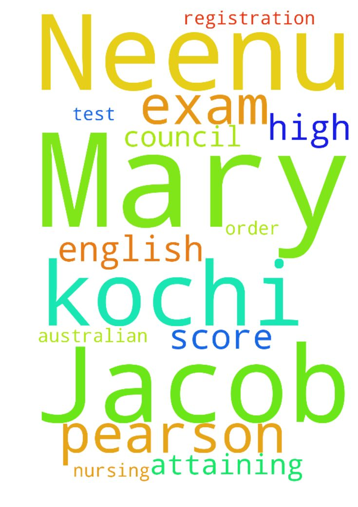 I'm Neenu Mary Jacob from kochi. I - Im Neenu Mary Jacob from kochi. I request to pray for me in attaining high score for Pearson test for English exam ,in order to get registration in Australian nursing council Posted at: https://prayerrequest.com/t/kHm #pray #prayer #request #prayerrequest