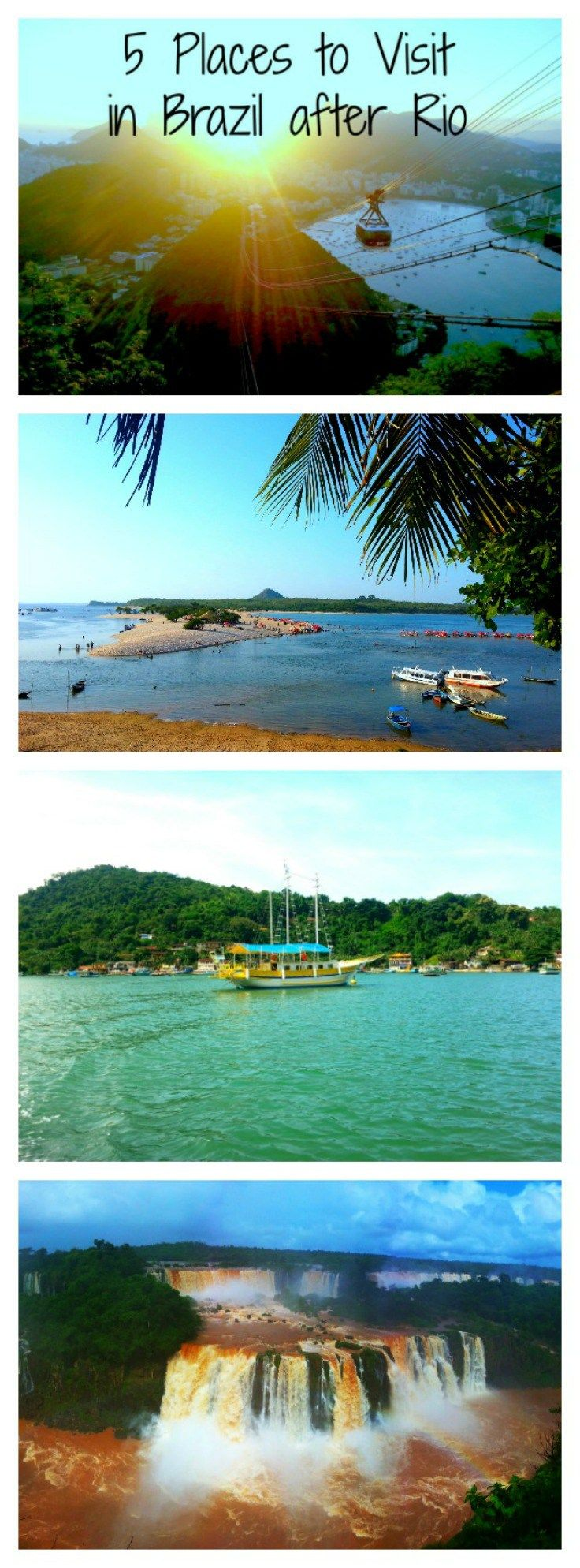 Collage 5 Places to Visit in Brazil After Rio