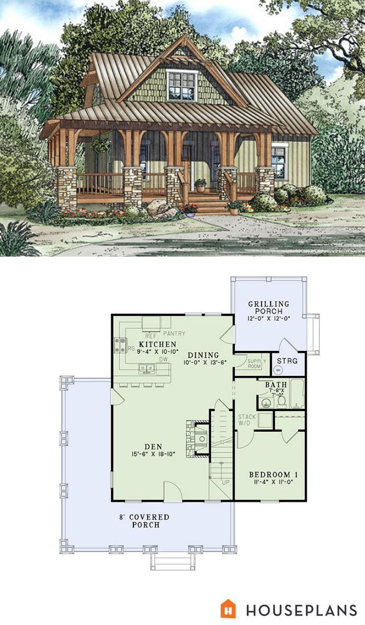 Craftsman style house plans 3 beds 2 baths 1374 sq ft for Tiny ranch house plans