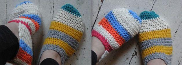 crochet slippers via craft magazine: Pippi Slippers, Slippers Socks, Crafts Crochet, Knits Crochet, Crafts Patterns, Crochet Slippers, Crochet Pippi, Free Patterns, Crochet Patterns
