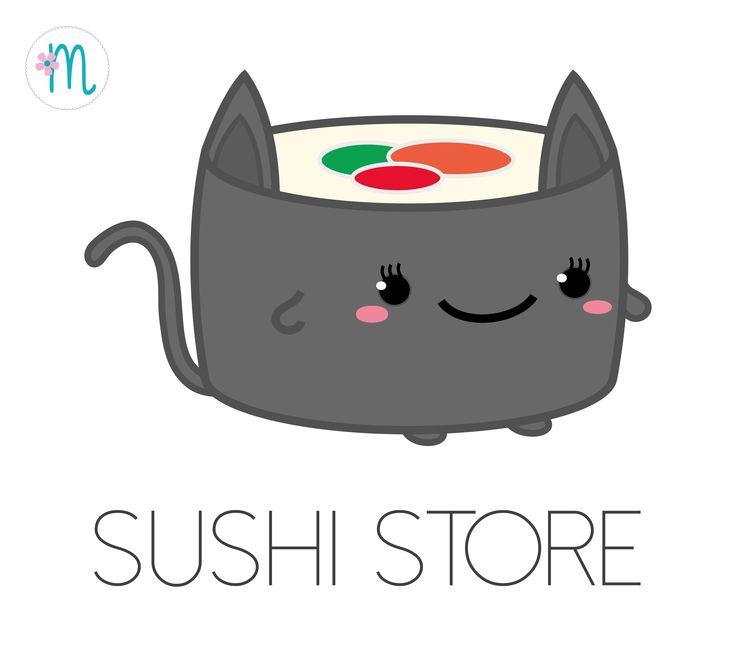 Mascota corporativa / Corporate mascot sushi cat