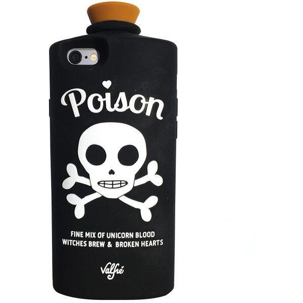 Poison 3D iPhone 6/6S Case (Black) by Valfre ($38) ❤ liked on Polyvore featuring accessories and tech accessories