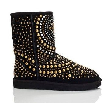 Studded Black Ugg Boots ♥ view more: www.onestopmotion.co.uk